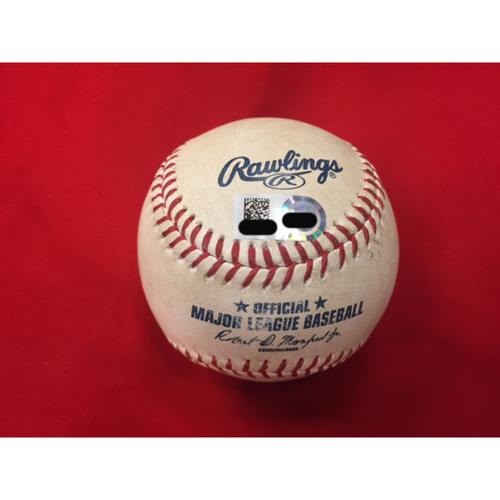 Photo of Willson Contreras -- First Career Grand Slam Home Run -- Player Collected Baseball from CHC vs. CIN on April 22, 2017