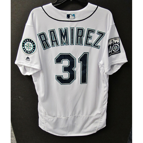 Photo of Mariners Care Hurricane Irma Relief - Erasmo Ramirez Team-Issued Marineros Jersey 9-9-2017 Size 46