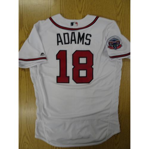Photo of Matt Adams Game-Used Los Bravos Jersey - Worn 9/17/17 at SunTrust Park