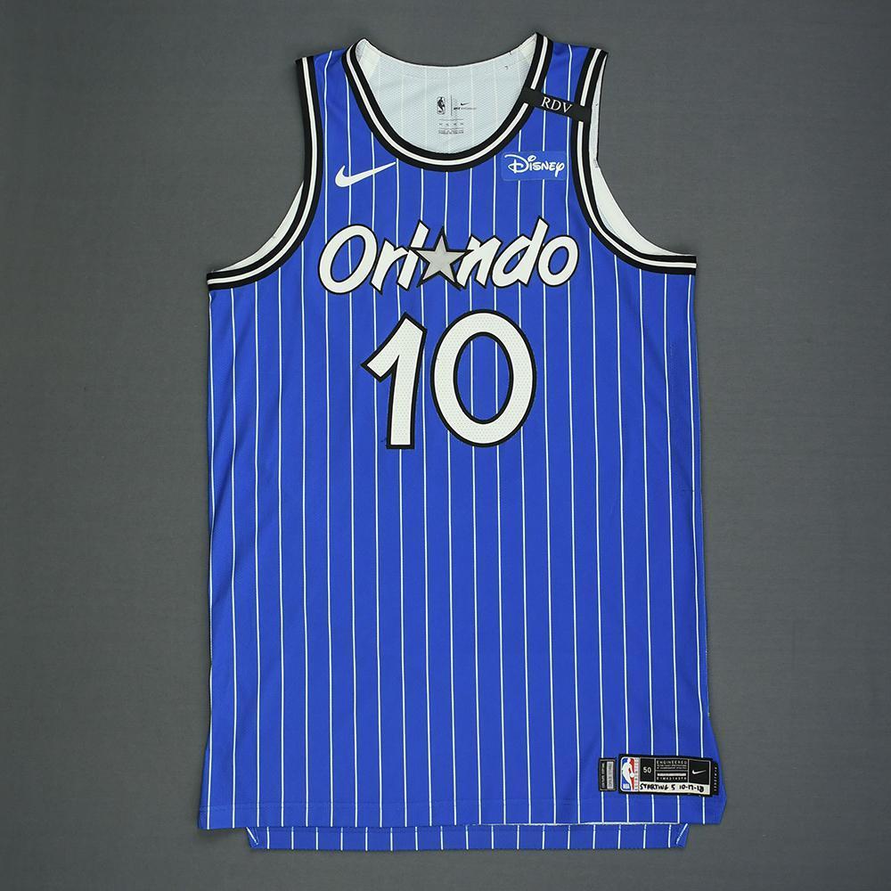 Evan Fournier - Orlando Magic - Kia NBA Tip-Off 2018 - Game-Worn Classic Edition '1994-98 Alternate Road' Jersey