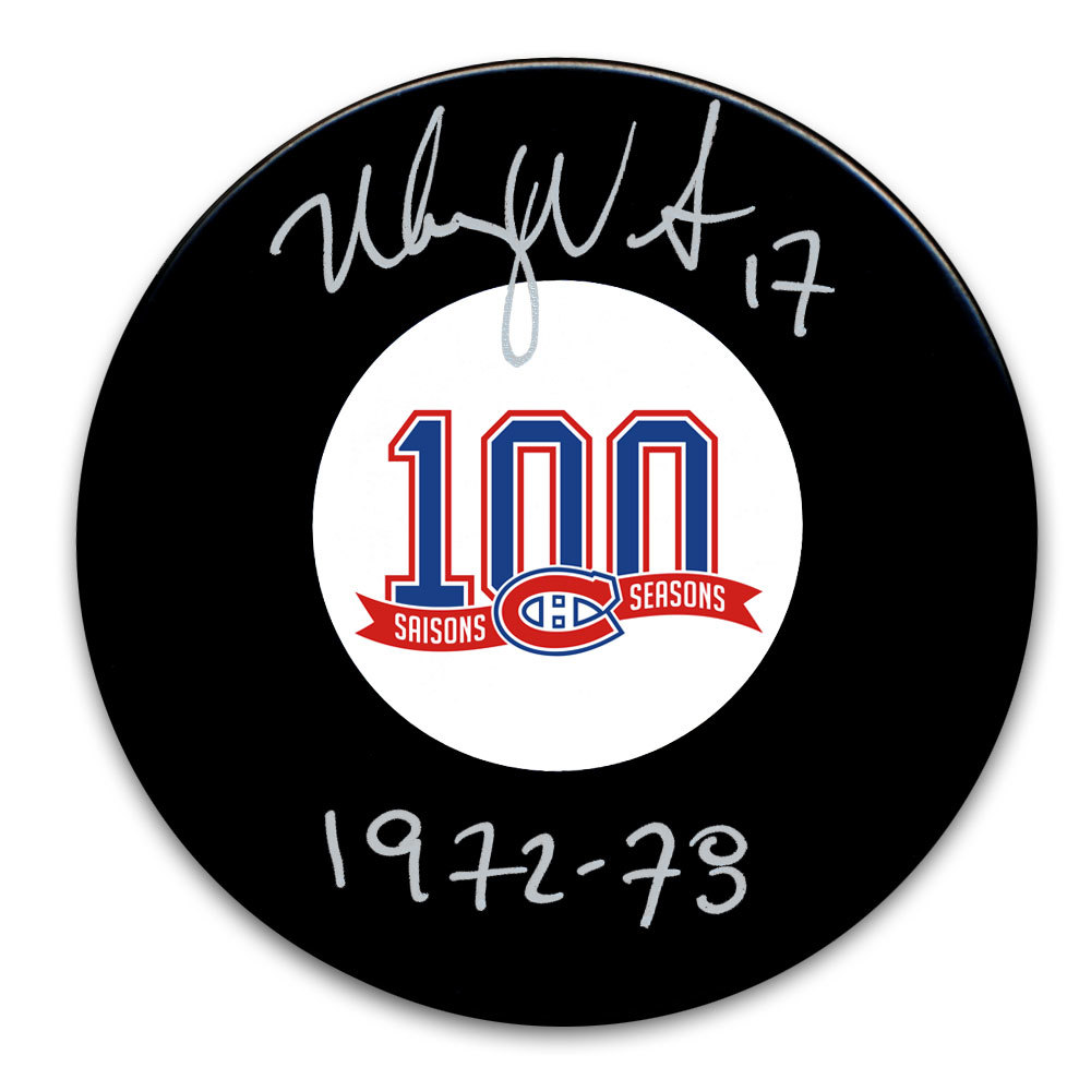Murray Wilson Montreal Canadiens 100th Anniversary Autographed Puck