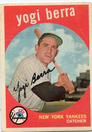Photo of 1959 Topps #180 Yogi Berra -- Yankees Hall of Famer