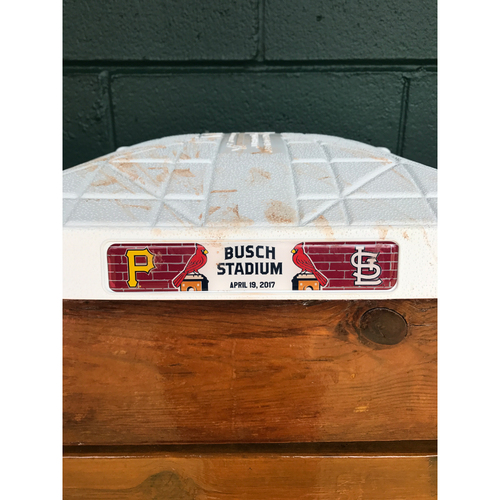 Photo of Cardinals Authentics: Game-Used 2nd Base Cardinals vs. Pirates from April 19th 2017