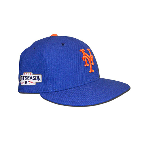 Photo of Juan Lagares #12 - Game Used Blue Hat - 2016 Postseason - Mets vs. Giants - 10/5/16