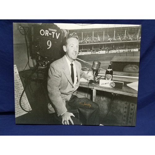 Photo of Kershaw's Challenge: Vin Scully Autographed 1955 Canvas