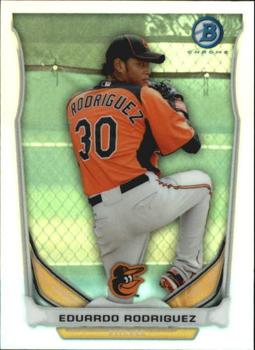 Photo of 2014 Bowman Chrome Bowman Scout Top 5 Mini Refractor Eduardo Rodriguez -- Red Sox post-season
