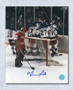 Vladislav Tretiak CCCP-Russia Autographed 1980 Miracle On Ice Goal 8x10 Photo