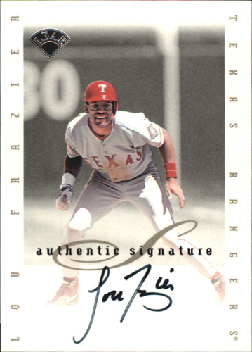 Photo of 1996 Leaf Signature Extended Autographs #55 Lou Frazier