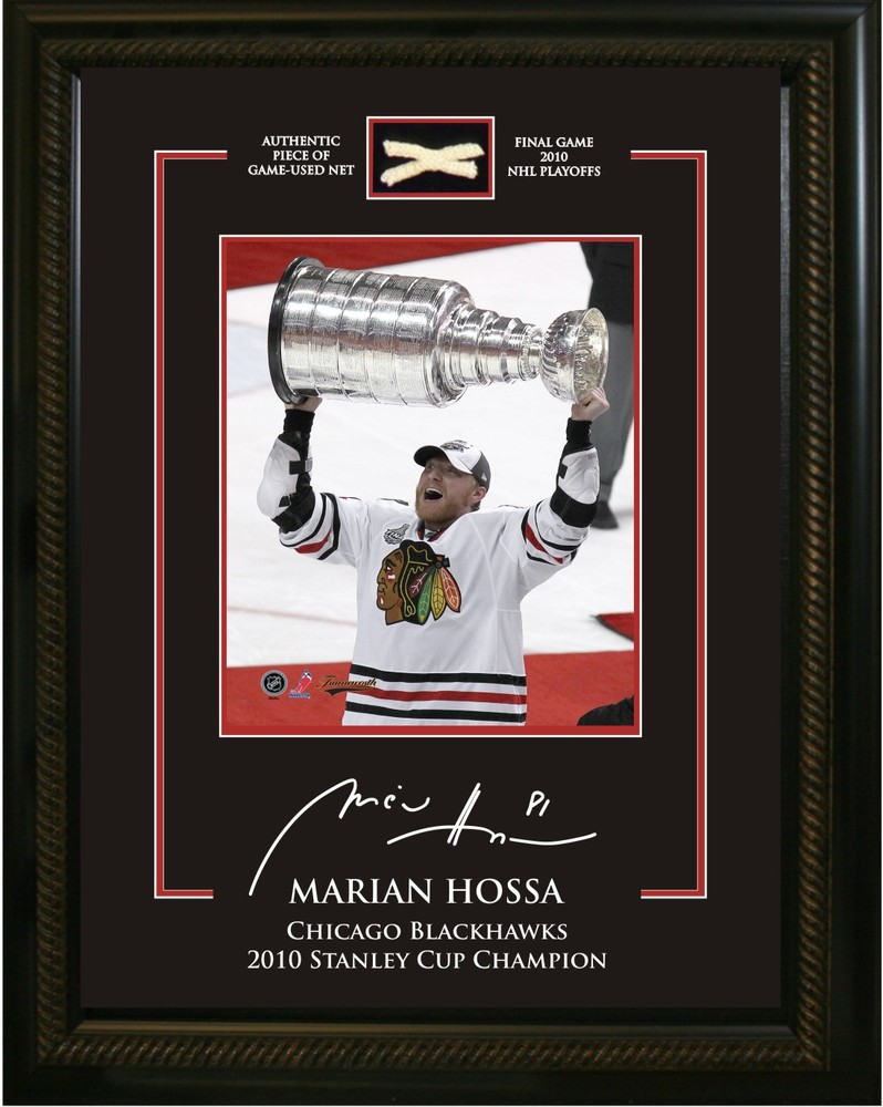 Hossa,M 8x10 With Piece of 2010 Stanley Cup Net