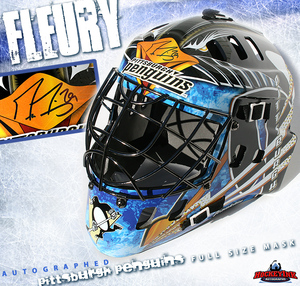 MARC-ANDRE FLEURY Signed Pittsburgh Penguins Full Size Goalie Mask
