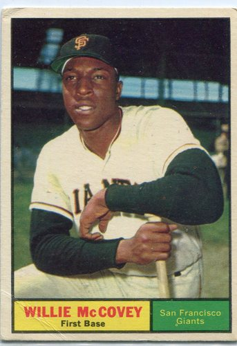 Photo of 1961 Topps #517 Willie McCovey -- Giants Hall of Famer