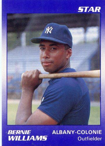 Photo of 1990 Albany Yankees Star #22 Bernie Williams