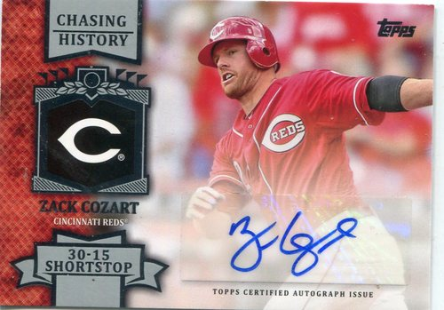Photo of 2013 Topps Chasing History Autographs #ZC Zack Cozart