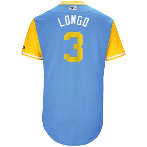 "Photo of Evan ""Longo"" Longoria Tampa Bay Rays Game-Used Players Weekend Jersey"
