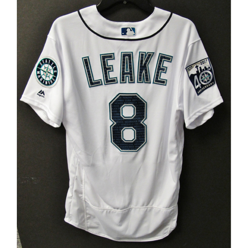 Photo of Mariners Care Hurricane Irma Relief - Mike Leake Team-Issued Marineros Jersey 9-9-2017 Size 42