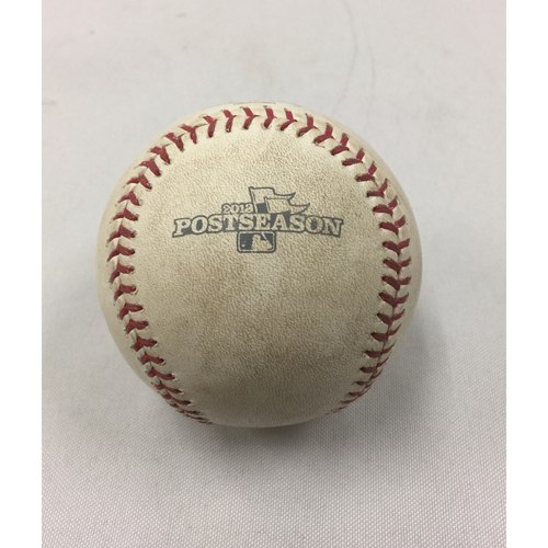 Photo of October 19, 2013 ALCS Game 6 Tigers at Red Sox Game-Used Ball