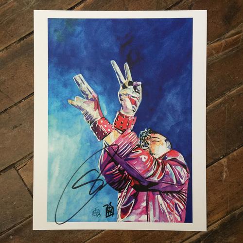 Photo of Shinsuke Nakamura SIGNED 11 x 14 Rob Schamberger Print
