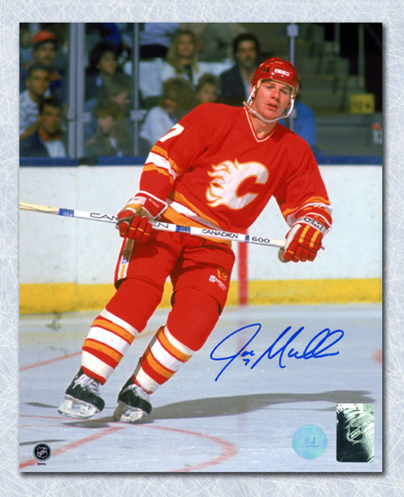 Joe Mullen Calgary Flames Autographed Hockey 8x10 Photo