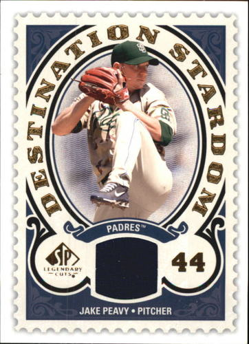 Photo of 2009 SP Legendary Cuts Destination Stardom Memorabilia #PE Jake Peavy