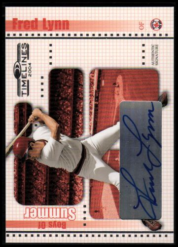 Photo of 2004 Donruss Timelines Boys of Summer Autograph #15 Fred Lynn