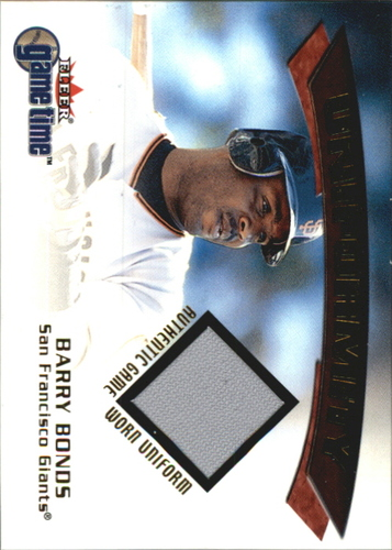Photo of 2001 Fleer Game Time Uniformity #1 Barry Bonds