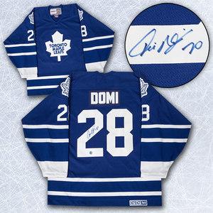 Tie Domi Toronto Maple Leafs Autographed CCM Retro Hockey Jersey