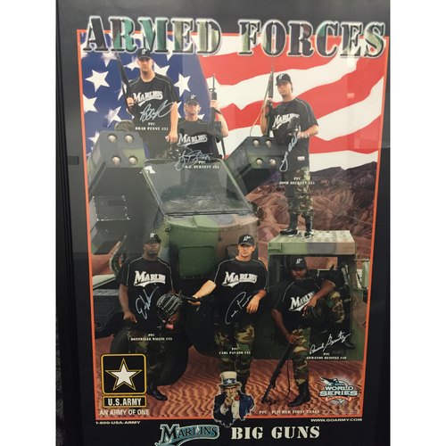Photo of Marlins Charity Auction - 2003 Armed Forces Frame