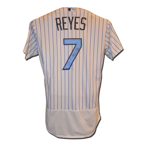 Photo of Jose Reyes #7 - Game Used Father's Day Jersey - Mets vs. Nationals - 6/18/17