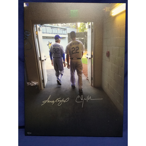 Photo of Kershaw's Challenge: Clayton Kershaw and Sandy Koufax Autographed Canvas