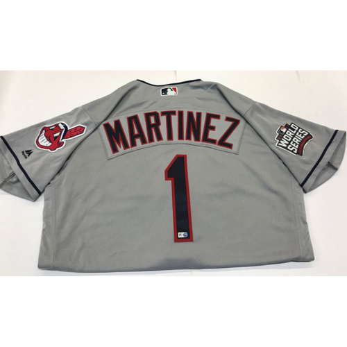 Photo of Michael Martinez Team-Issued 2016 World Series Jersey