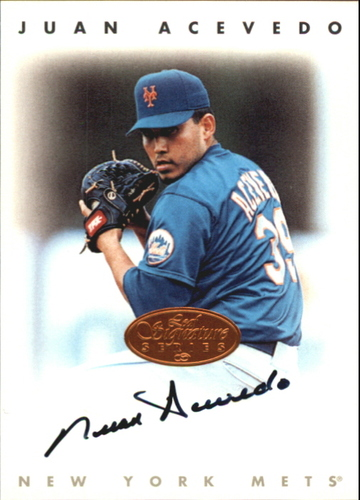 Photo of 1996 Leaf Signature Autographs #2 Juan Acevedo