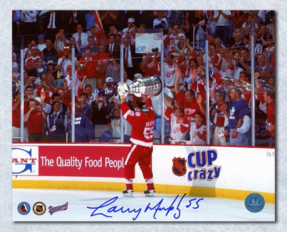 Larry Murphy Detroit Red Wings Autographed Stanley Cup 8x10 Photo