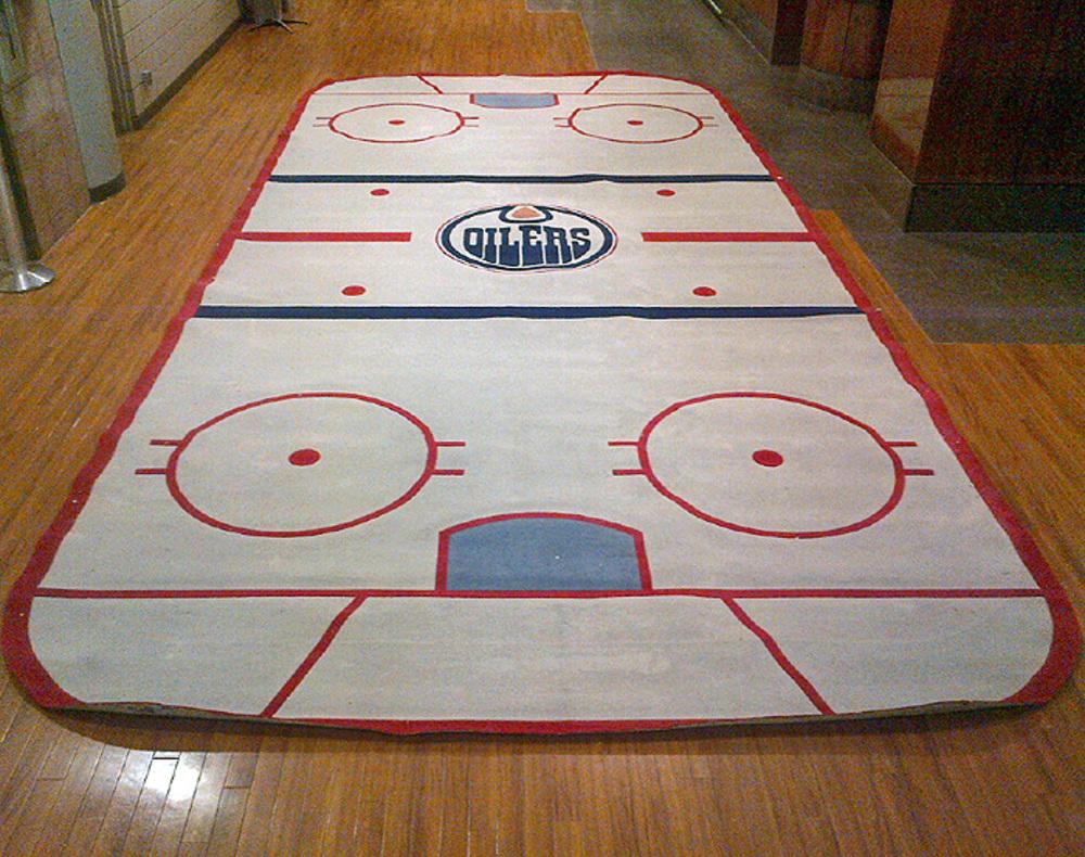 Edmonton Oilers Main Locker Room Hockey Rink Carpet From