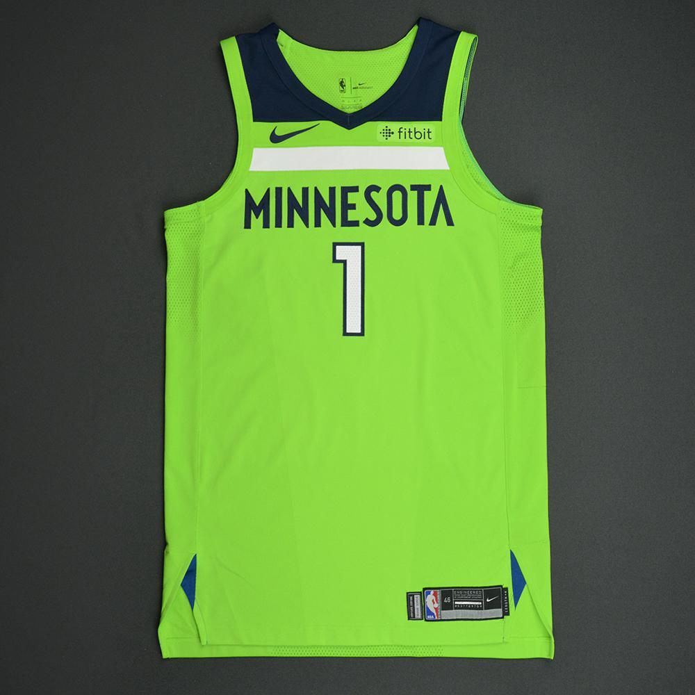 Tyus Jones - Minnesota Timberwolves - Statement Game-Worn Jersey - 2017-18 Season