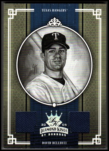 Photo of 2005 Diamond Kings Materials Bronze B/W #236 David Dellucci Jsy-Jsy/100