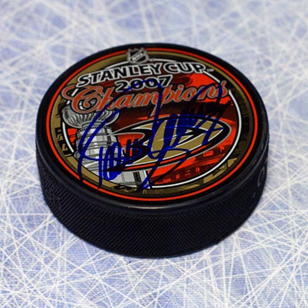 Teemu Selanne Anaheim Ducks Autographed 2007 Stanley Cup Puck