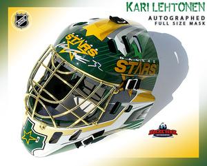 KARI LEHTENON Signed Dallas Stars Full Size Goalie Mask