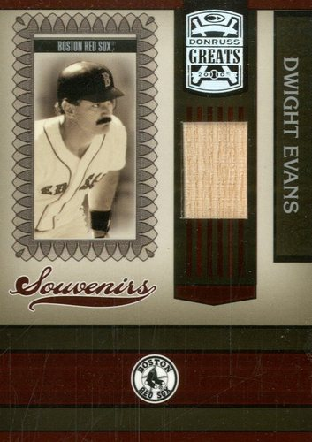 Photo of 2005 Donruss Greats Souvenirs Material Bat #5 Dwight Evans T5
