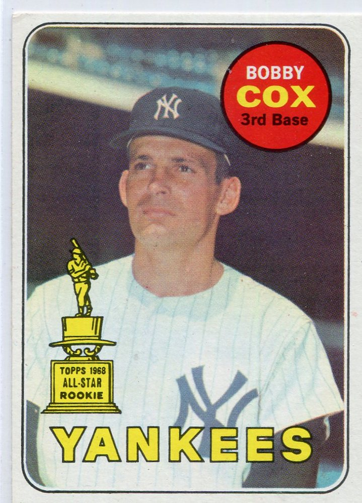 1969 Topps #237 Bobby Cox Rookie card