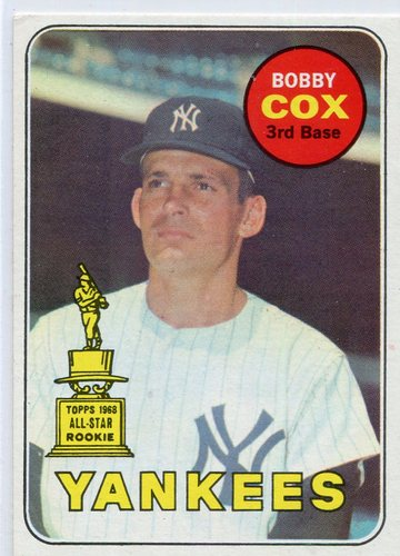 Photo of 1969 Topps #237 Bobby Cox Rookie card