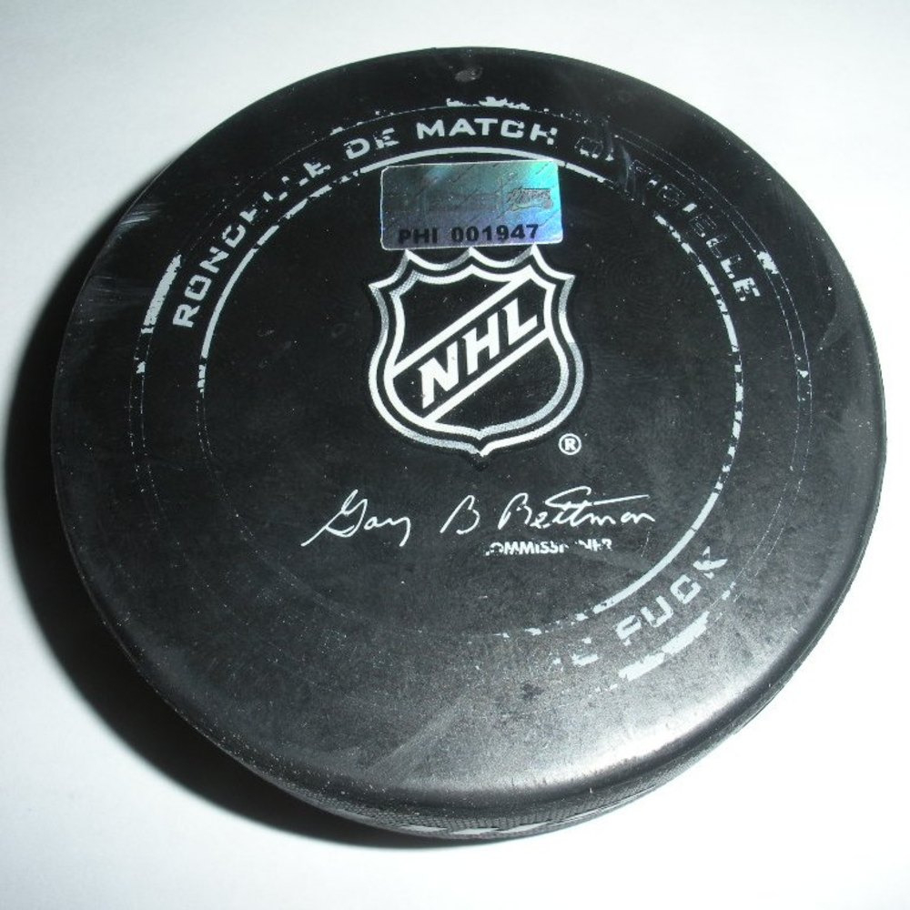 Alex Galchenyuk  - Montreal Canadiens - Goal Puck - December 12, 2013 (Flyers Logo)