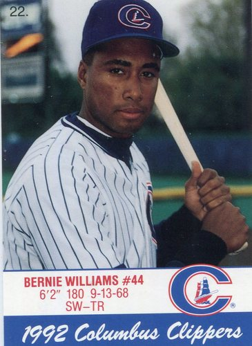 Photo of 1992 Columbus Clippers Police #22 Bernie Williams