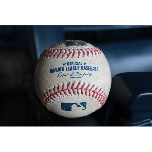 Photo of Game-Used Johnny Giavotella Single (LAA at KC 7/25/16)