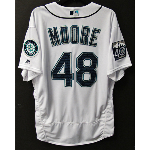 Photo of Mariners Care Hurricane Irma Relief - Andrew Moore Game-Used Marineros Jersey 9-9-2017 Size 48