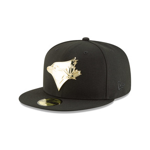 Toronto Blue Jays Golden Finish Fitted Cap by New Era