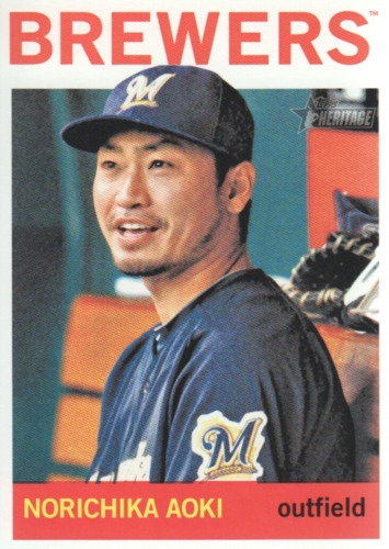 Photo of 2013 Topps Heritage #29 Norichika Aoki