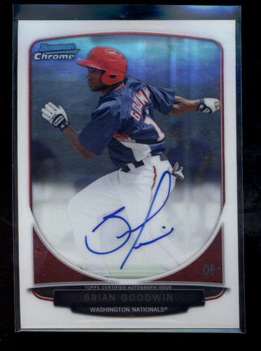 Photo of 2013 Bowman Chrome Prospect Autographs #BG Brian Goodwin