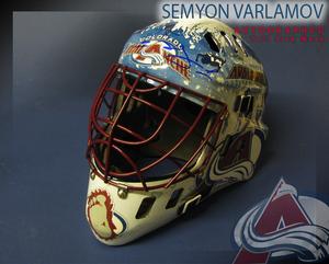 SEMYON VARLAMOV Signed Colorado Avalanche Full Size Goalie Mask