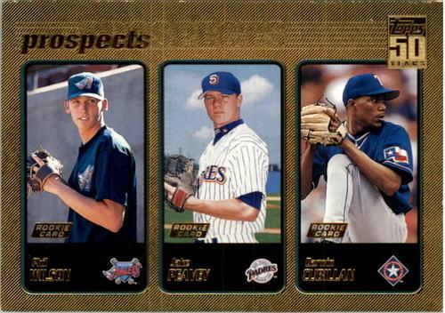 Photo of 2001 Topps Gold #728 Jake Peavy UER/Last name spelled Peavey