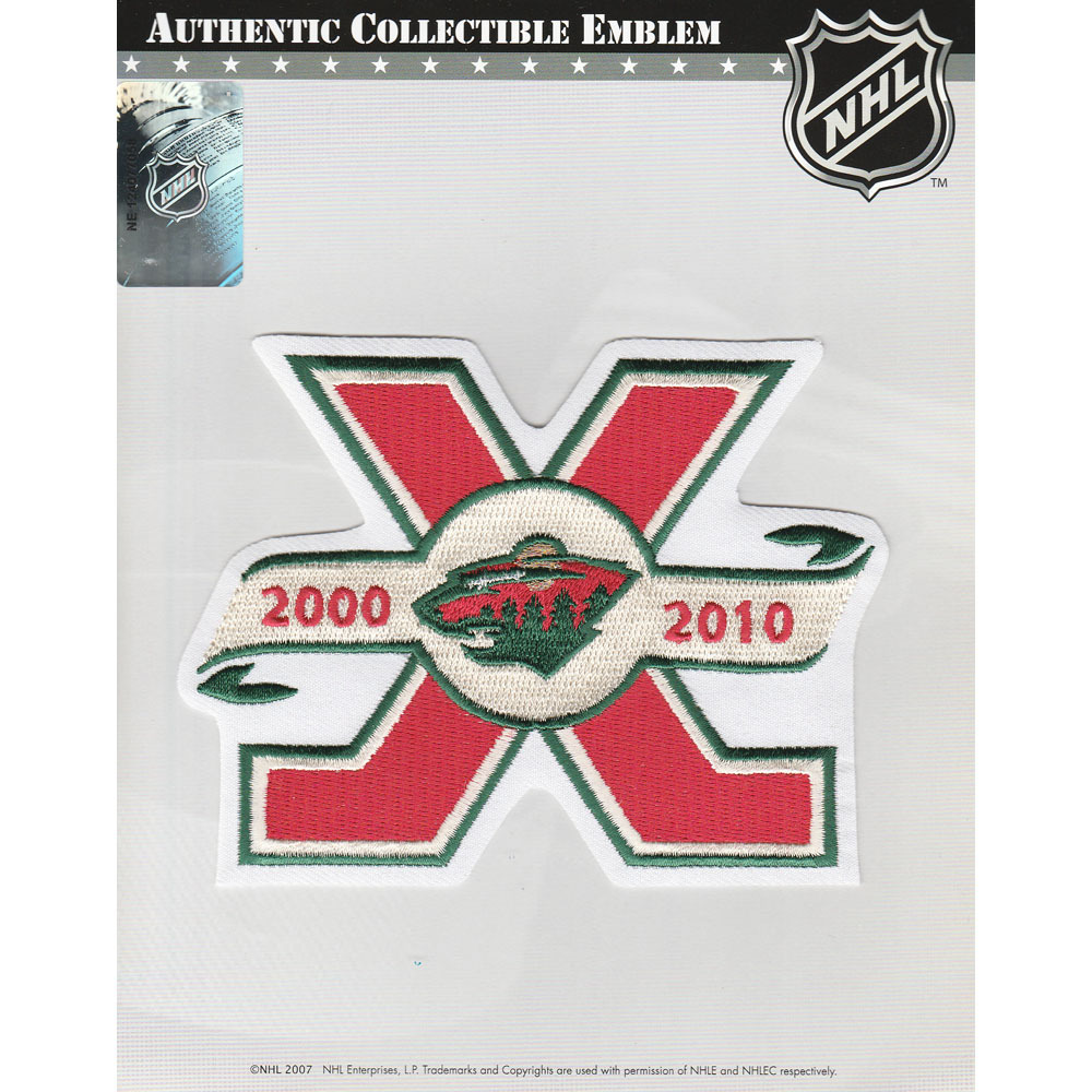 Minnesota Wild 10th Anniversary Jersey Patch